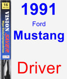 Driver Wiper Blade for 1991 Ford Mustang - Vision Saver
