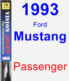 Passenger Wiper Blade for 1993 Ford Mustang - Vision Saver