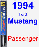 Passenger Wiper Blade for 1994 Ford Mustang - Vision Saver