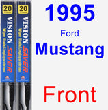 Front Wiper Blade Pack for 1995 Ford Mustang - Vision Saver