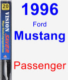 Passenger Wiper Blade for 1996 Ford Mustang - Vision Saver
