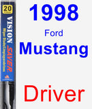 Driver Wiper Blade for 1998 Ford Mustang - Vision Saver