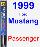 Passenger Wiper Blade for 1999 Ford Mustang - Vision Saver