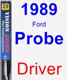 Driver Wiper Blade for 1989 Ford Probe - Vision Saver