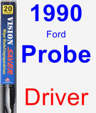 Driver Wiper Blade for 1990 Ford Probe - Vision Saver