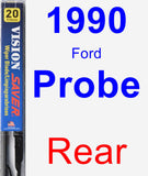 Rear Wiper Blade for 1990 Ford Probe - Vision Saver
