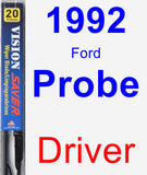 Driver Wiper Blade for 1992 Ford Probe - Vision Saver