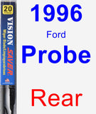Rear Wiper Blade for 1996 Ford Probe - Vision Saver