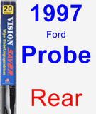 Rear Wiper Blade for 1997 Ford Probe - Vision Saver