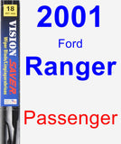 Passenger Wiper Blade for 2001 Ford Ranger - Vision Saver