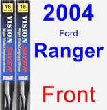 Front Wiper Blade Pack for 2004 Ford Ranger - Vision Saver