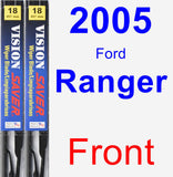 Front Wiper Blade Pack for 2005 Ford Ranger - Vision Saver