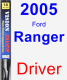 Driver Wiper Blade for 2005 Ford Ranger - Vision Saver