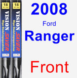 Front Wiper Blade Pack for 2008 Ford Ranger - Vision Saver