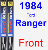 Front Wiper Blade Pack for 1984 Ford Ranger - Vision Saver