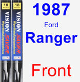 Front Wiper Blade Pack for 1987 Ford Ranger - Vision Saver
