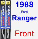 Front Wiper Blade Pack for 1988 Ford Ranger - Vision Saver
