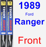 Front Wiper Blade Pack for 1989 Ford Ranger - Vision Saver