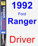 Driver Wiper Blade for 1992 Ford Ranger - Vision Saver