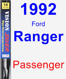 Passenger Wiper Blade for 1992 Ford Ranger - Vision Saver