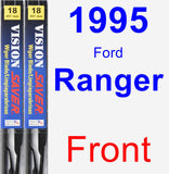 Front Wiper Blade Pack for 1995 Ford Ranger - Vision Saver