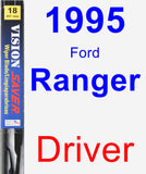 Driver Wiper Blade for 1995 Ford Ranger - Vision Saver