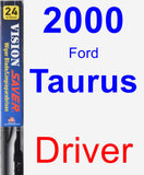 Driver Wiper Blade for 2000 Ford Taurus - Vision Saver