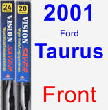 Front Wiper Blade Pack for 2001 Ford Taurus - Vision Saver