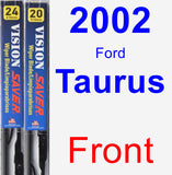 Front Wiper Blade Pack for 2002 Ford Taurus - Vision Saver
