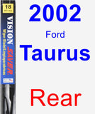 Rear Wiper Blade for 2002 Ford Taurus - Vision Saver