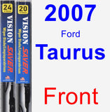 Front Wiper Blade Pack for 2007 Ford Taurus - Vision Saver