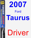 Driver Wiper Blade for 2007 Ford Taurus - Vision Saver