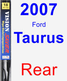Rear Wiper Blade for 2007 Ford Taurus - Vision Saver
