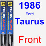 Front Wiper Blade Pack for 1986 Ford Taurus - Vision Saver