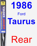 Rear Wiper Blade for 1986 Ford Taurus - Vision Saver