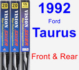 Front & Rear Wiper Blade Pack for 1992 Ford Taurus - Vision Saver
