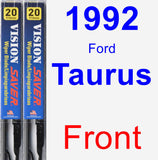 Front Wiper Blade Pack for 1992 Ford Taurus - Vision Saver