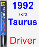 Driver Wiper Blade for 1992 Ford Taurus - Vision Saver
