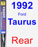 Rear Wiper Blade for 1992 Ford Taurus - Vision Saver