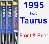 Front & Rear Wiper Blade Pack for 1995 Ford Taurus - Vision Saver