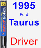 Driver Wiper Blade for 1995 Ford Taurus - Vision Saver