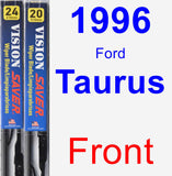 Front Wiper Blade Pack for 1996 Ford Taurus - Vision Saver