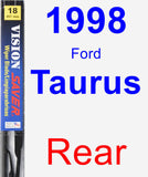 Rear Wiper Blade for 1998 Ford Taurus - Vision Saver