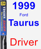 Driver Wiper Blade for 1999 Ford Taurus - Vision Saver