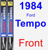 Front Wiper Blade Pack for 1984 Ford Tempo - Vision Saver