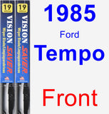 Front Wiper Blade Pack for 1985 Ford Tempo - Vision Saver