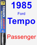 Passenger Wiper Blade for 1985 Ford Tempo - Vision Saver