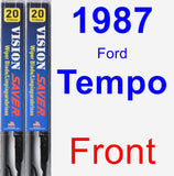 Front Wiper Blade Pack for 1987 Ford Tempo - Vision Saver