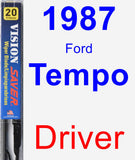 Driver Wiper Blade for 1987 Ford Tempo - Vision Saver
