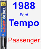 Passenger Wiper Blade for 1988 Ford Tempo - Vision Saver